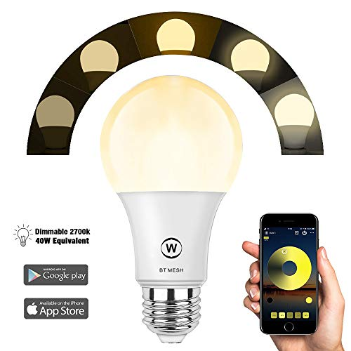 - Bluetooth_Mesh Smart Dimmable Light Bulb, HaoDeng App Controlled, No Hub Required, Suitable for Household Lighting (Hub Required to Enable Remotely Alexa Google Voice Control, Hub Sold Separately
