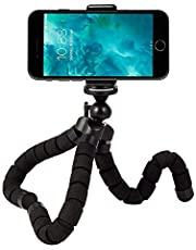 Rhodesy Octopus Style Tripod Stand Holder for Any Smartphone, Camera with Clip