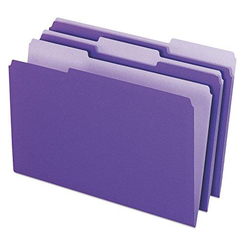 Pendaflex 435013VIO Interior File Folders Legal 1//3 Cut Top Tab Box of 100 Violet