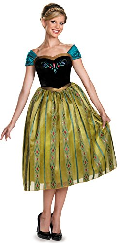 Disguise Women's Anna Coronation Deluxe Adult Costume, Multi,
