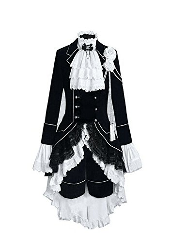 Trust Costume Black Butler Ciel Phantomhive Cosplay Costume (Female-XL)