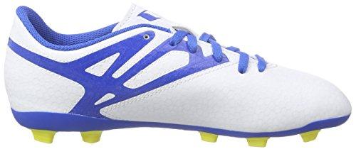adidas Messi 15.4 FXG J - Botas para niño Blanco / Azul / Negro / Lima
