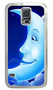 Crescent Custom Samsung Galaxy S5 Case Back Cover, Snap-on Shell Case Polycarbonate PC Plastic Hard Case Transparent