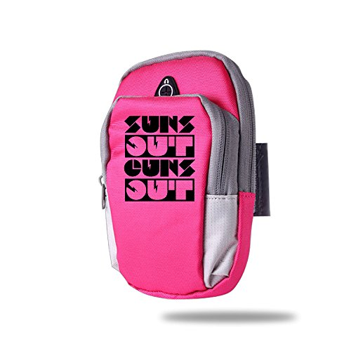 Outdoor Sports Armband - Suns Out Guns Out Multifunctional Pockets Arm Bag Wrist Wear Arm Sleeve - Best For Running, Sports And Workout