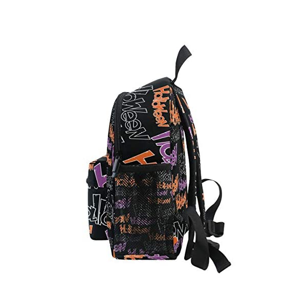 Halloween Black Letter Kid Zaino Scuola Borsa Bookbag Bambini Viaggio Daypack Ragazza Ragazzo 3-8 Anni Bambino… 4 spesavip