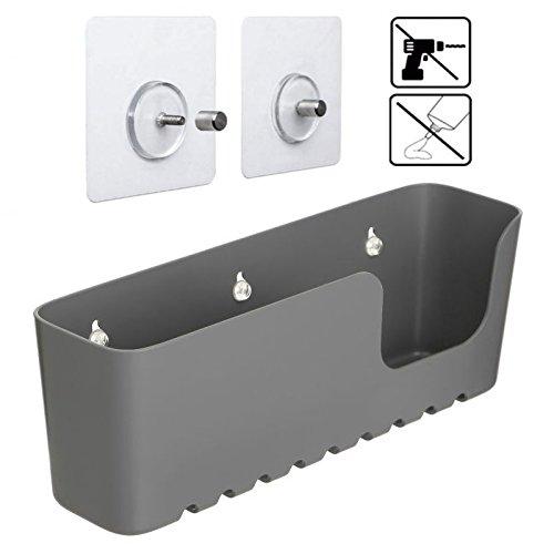 Sanixa TA4520200 Shower Shelf without Drilling   Nano Mounting System   Holds up to 10 kg   Plastic Shower Basket / Shower Caddy, Bathroom & Kitchen Storage Basket