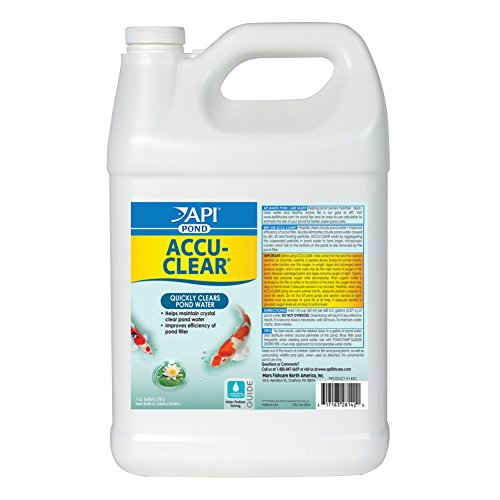 API POND ACCU-CLEAR Pond Water Clarifier 1-Gallon Bottle