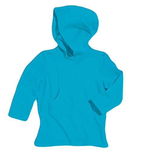 Sun Smarties Toddler Cotton Hoodie Sun Protection Beach Swim Cover-Up Blue 2T