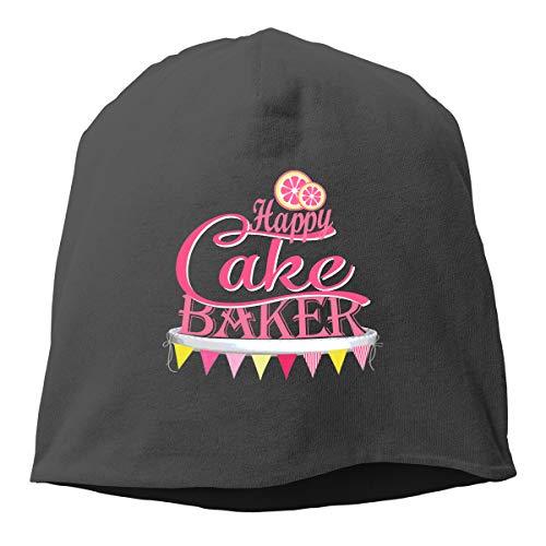 Woman Skull Cap Beanie Happy Cake Baker Headwear Knit Hat Warm Hip-hop Hat