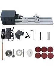 KKmoon Mini Lathe Beads Polisher Machine Woodworking Craft DIY Rotary Tool Universal Set US Plug