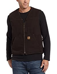 Men's Sherpa Lined Sandstone Rugged Vest V26