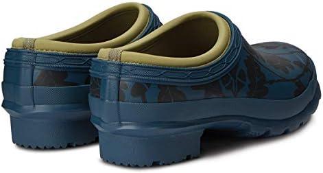 HUNTER National Trust Print Gardener Clog Womens Wellington Boots 39 EU Dusk