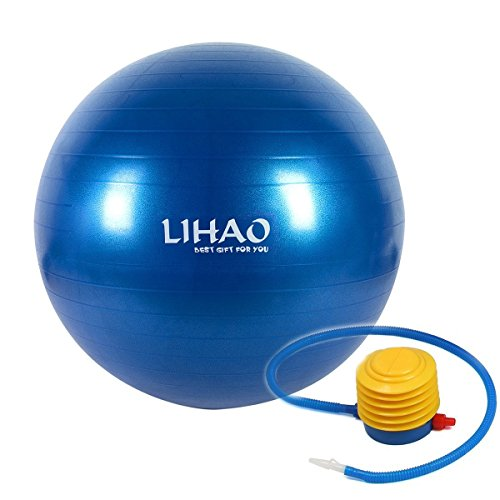 65CM Anti-burst Exercise Stability Ball with Foot Pump for Pilates Fitness & Workout
