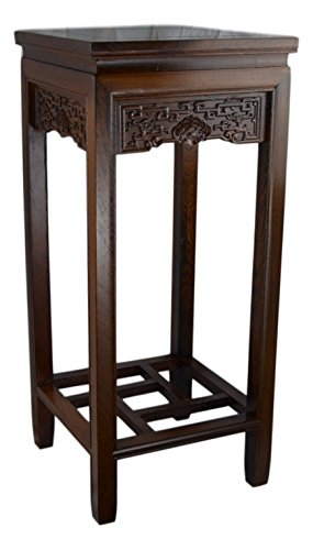 Rosewood Square Table, Planter Stand Plant Pot Display Stand Lamp Table (27