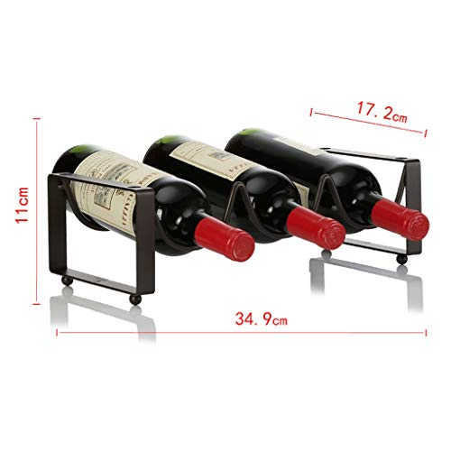Wine Rack -Iron Art Can Be Superimposed Wine Cooler, Creative Display Stand (Size : Three -Bottles)