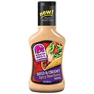 Taco Bell Bold & Creamy, Spicy Ranchero Sauce, 8-Ounce (Pack of 6) from Taco Bell