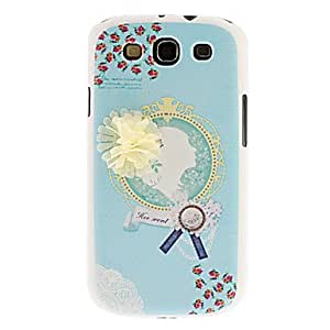 RC - Girl with Hair Flower Pattern Hard Case for Samsung Galaxy S3 I9300