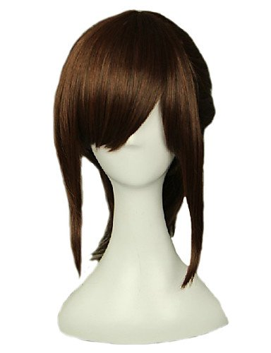 Wigs have an attractive convenience fashion Angelaicos Women Sasha Blaus Attack On Titan Medium Brown Clip in Ponytail Halloween Costume Party Cosplay (Halloween Costumes In Nyc)