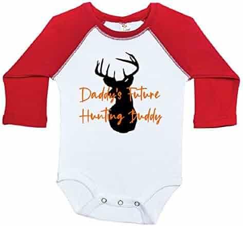 bd835d063 Ebenezer Fire Daddy's Future Hunting Buddy, Deer Baby Onesie, Newborn  Raglan Bodysuit