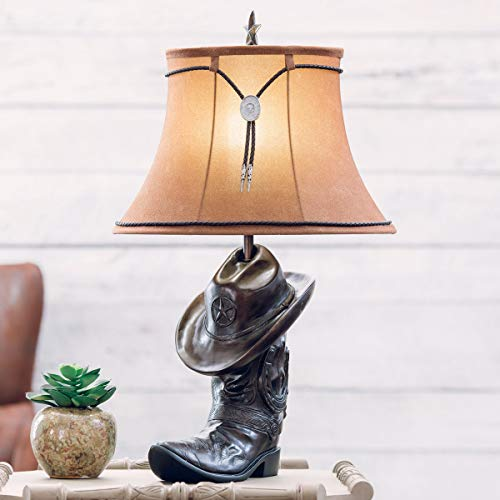 BLACK FOREST DECOR Cowboy Hat & Boot Table Lamp