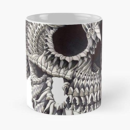Maori {{%20}}skull {{%20}}old{{%20}}school {{%20}}tattoo - Funny Sophisticated Design Great Gifts -11 Oz Coffee Mug.the Best Gift For Holidays.
