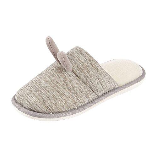 Mantenga antideslizantes Women's color el claro marrón Eastlion de Lovely felpa para zapatos cálidos Children's interior hogar de pantuflas Winter de nfYdxFwp