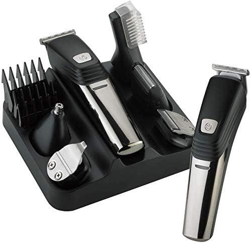 2020 máquina de afeitar eléctrica de los hombres de barba Tijeras eléctrica cortadora de cabello 6-en-1 barba y bigote Trimmer Set LK-800 USB cargador máquina de afeitar eléctrica