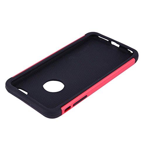 Fall fuer IPhone 6S - SODIAL(R) iPhone 6S Case, iPhone 6 Case, Tropfen Schutz Ruestung Hybrid Doppelschicht Schutzhuelle fuer iPhone 6S (2015)/ iPhone 6 (2014), Rose rot