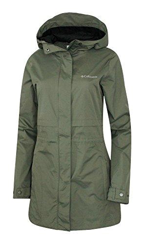 COLUMBIA WOMENS Shine Struck II Waterproof RAIN Mid Hooded JACKET 2017 (XL, Olive)