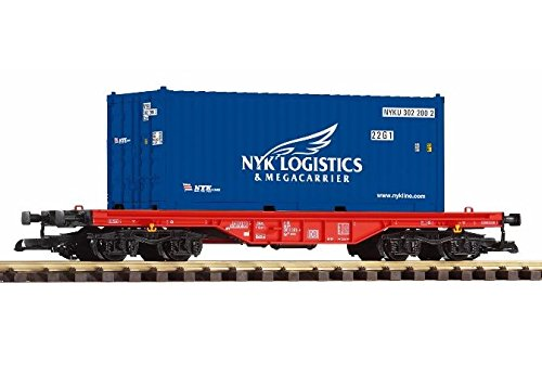 PIKO G SCALE MODEL TRAINS - NYK LOGISTIC CONTAINER CAR - 37726 by Piko