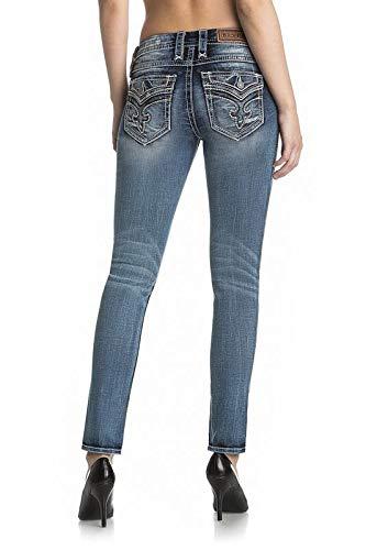 (Rock Revival Daray S200 Medium Wash Skinny Cut Jeans RP2597S200 W/Size 32 33 34 (29 X 30))
