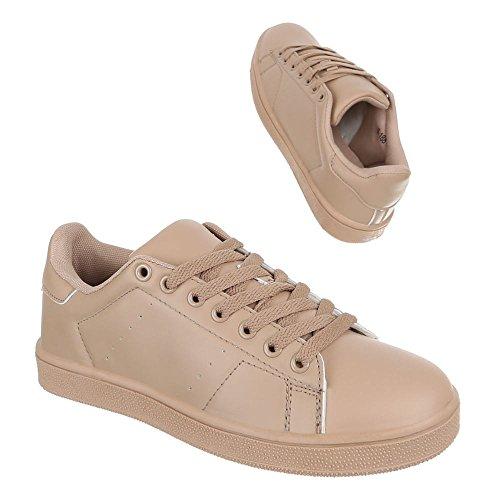 Ital-Design - Zapatillas de Material Sintético para mujer Marrón - marrón claro