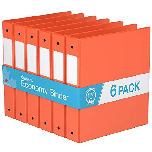 Round Ring Economy - Premium Economy, Round Ring, Binder, 6 Pack (1.5