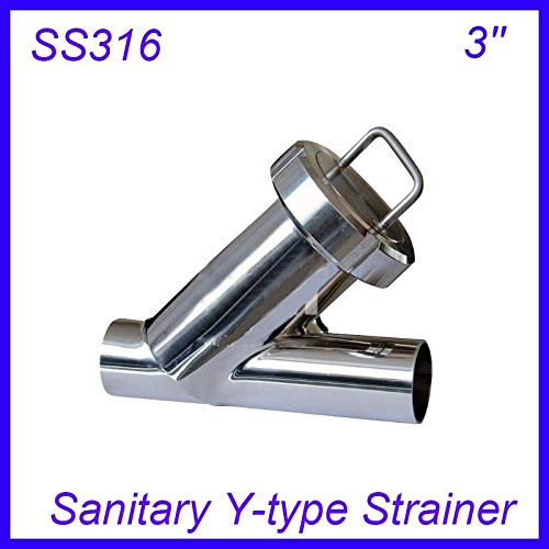 Maslin 3'' Sanitary Stainless Steel SS316 Y Type Filter Strainer f Beer/Dairy/Pharmaceutical/beverag/Chemical Industry