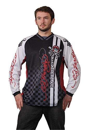 Ed Hardy 150-03X EH-L Motorsports Sleeveless Long Size L Black/White/Red Pack of 1 Ed Hardy Long Shirts