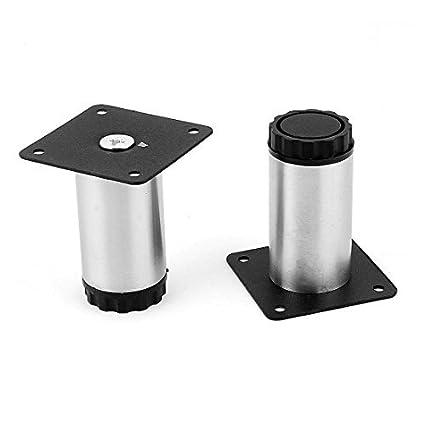 Amazon.com: 80 mm de alta Gabinete Sofá mesa Redonda pierna ...