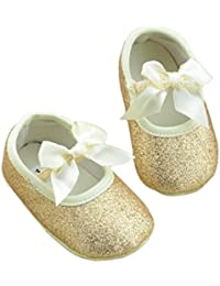 DZT1968® Baby Girl Soft Sole Bowknot Bling Bling Shoes...