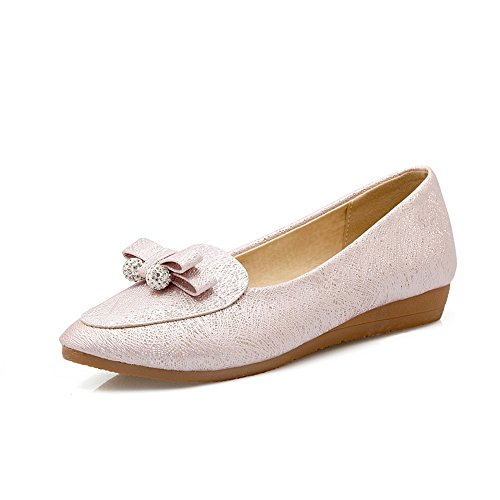 Balamasa Ladies Archi Cunei Charms Pull-on In Microfibra Pumps-shoes Rosa