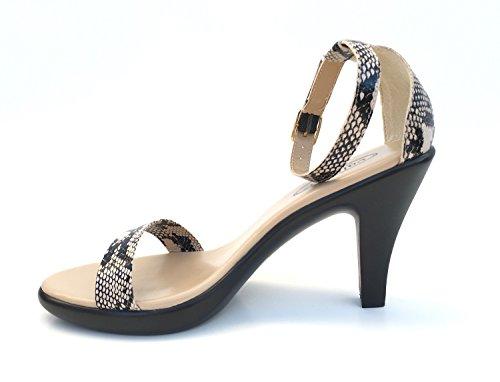 Callisto Women Mantra Snake Print Natural Size 8 M Platform Heels ysvGNE