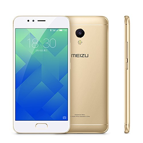 MEIZU M5S Unlocked Smart Cellphone MTK6753 Octa Core 3GB 32GB 5.2'' HD IPS Fingerprint Fast Charging Mobile Global Version (Gold) by Meizu