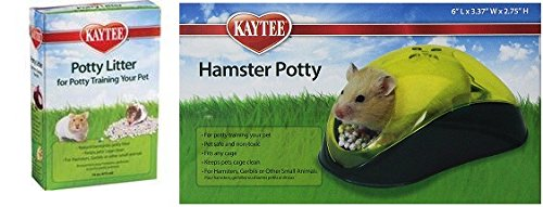 Kaytee Hamster Potty (Colors Vary) and Super Pet Potty Litter 16 Ounces Super Pet Hamster Litter