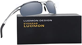 Luomon 66mm Polarized Wrap-Around Mens Sport Sunglasses