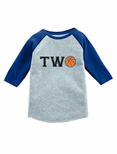 Tstars 2 Year Old Birthday Gift Basketball Fan 3/4 Sleeve Baseball Jersey Toddler Shirt 2T Blue