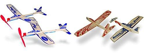 (Guillow Balsa Wood Model Airplane Set - Sky Streak Twin Pack and Super Hero Twin Pack (4 Planes Total))