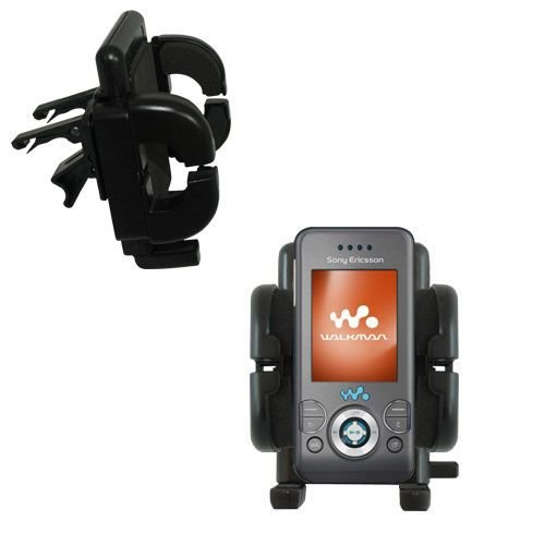 Innovative Vent Cradle Vehicle Mount designed for the Sony Ericsson w580i - Adjustable Vent Clip Holder for Most Car / Auto Vent Systems (W580i Clip)