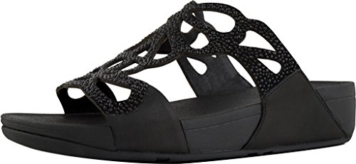 Slide Crystal Black Bumble Sandals FitFlop Women's xwRFZqcz