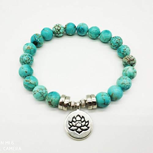 Gabcus Lotus Buddha Charm Jewelry Yoga Mala Bracelet