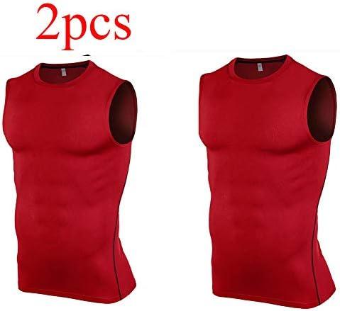 メンズ2パックドライフィットYバックジムマッスルタンクメッシュノースリーブトップフィットネストレーニングは、涼しく乾燥したアスリートワークアウトワークアウトタンク,A,M