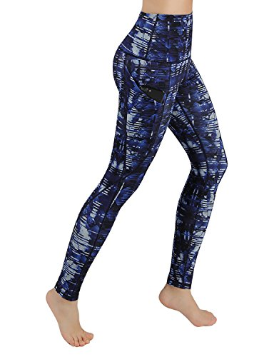 8d95a3b1f65 ODODOS High Waist Out Pocket Printed Yoga Pants Tummy Control Workout  Running 4 Way Stretch Yoga