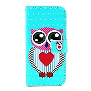 JJE Wreath Style Cartoon Owl PU Leather Full Body Case with Stand and Card Slot for iPhone 6 Plus